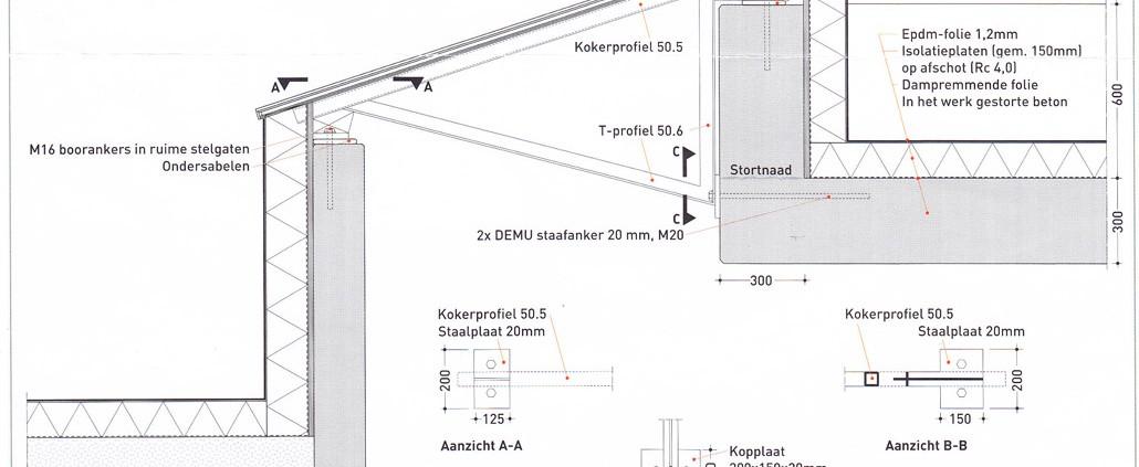 detail van dakspanten